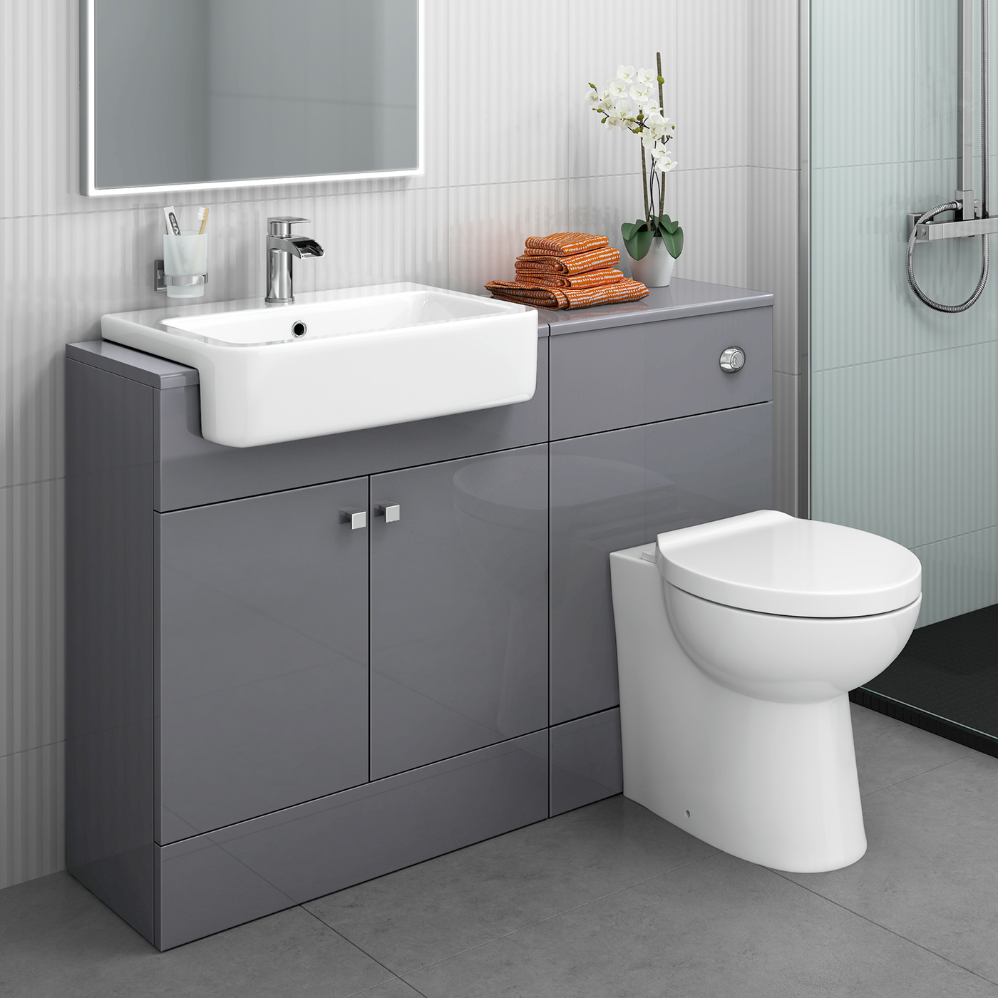 Minimalist Likeable sink vanity units for bathrooms Wondeful Primary