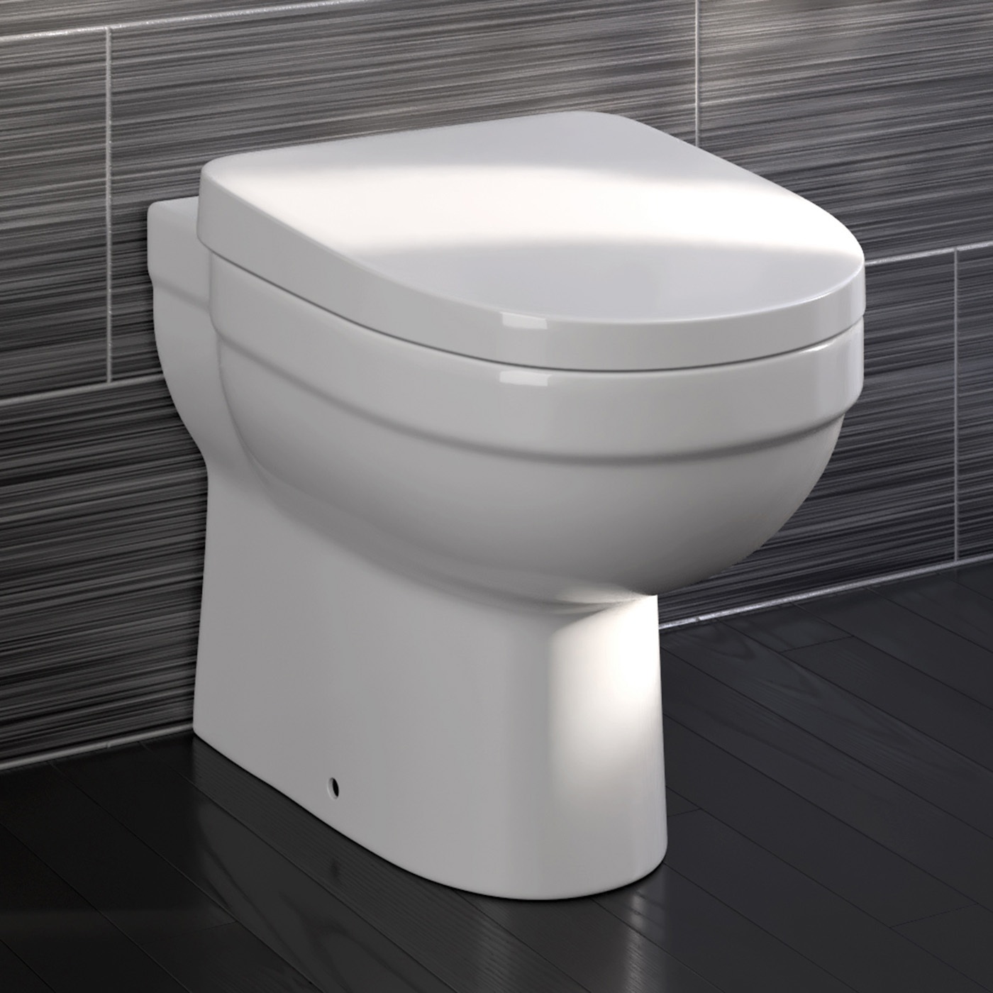 modern design back to wall bathroom wc toilet seat ctbtw  ebay - bathroom mirrors